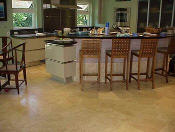 honed granite kitchen floor