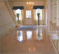 polished granite floor