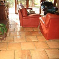 terracotta tile floor